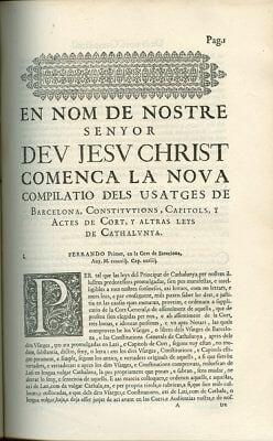 1045 - 1413 Usatges o Usanzas
